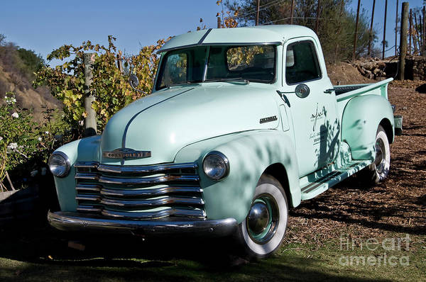 Digital Art - Pale Green Classic Chevy Truck by Kirt Tisdale