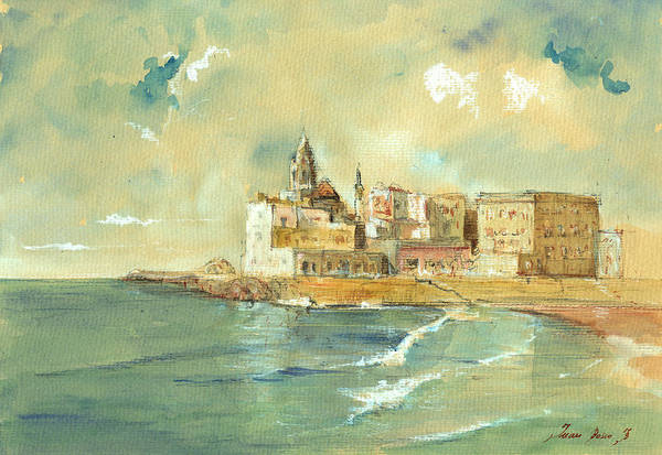 Sicily Painting - Palermo Sicily Italy by Juan  Bosco