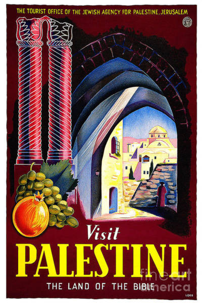 Wall Art - Painting - Palestine Travel Poster by Pd