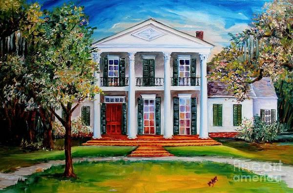Wall Art - Painting - Palfrey House In Louisiana by Diane Millsap