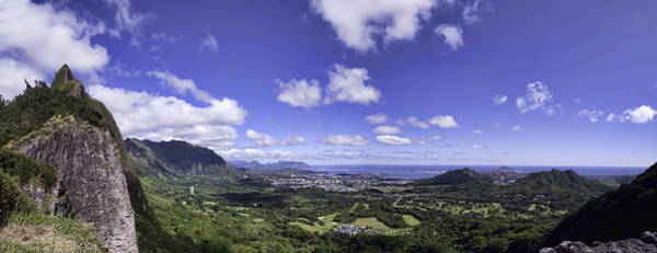 Pali Lookout Panorama Art Print