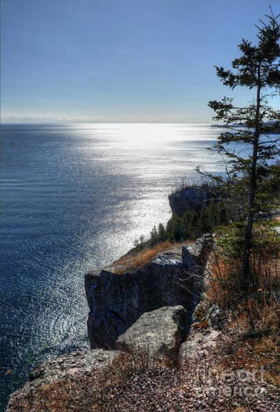 Lake Superior Wall Art - Photograph - Palisade Head Lake Superior Minnesota Winter Afternoon by Wayne Moran