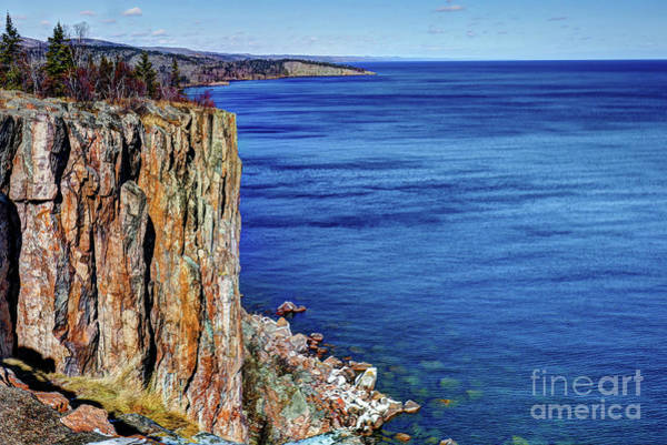 Lake Superior Photograph - Palisade Head Tettegouche State Park North Shore Lake Superior Mn by Wayne Moran