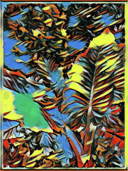 Wall Art - Painting - Palm Abstract by Mindy Newman