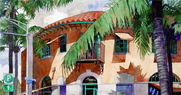 Painting - Palm And Deco by Mick Williams