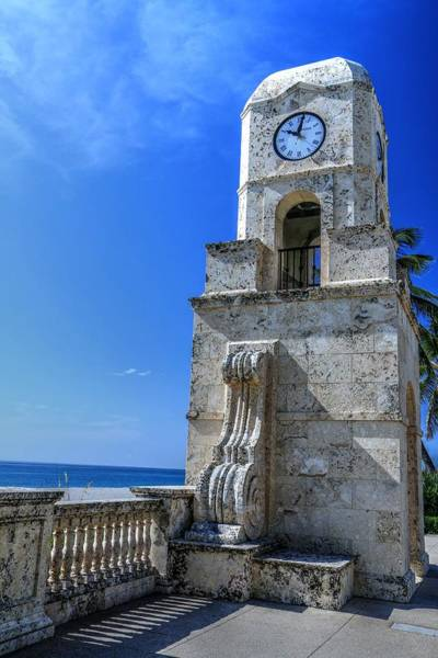 Photograph - Palm Beach Clock Tower  by Carol Montoya