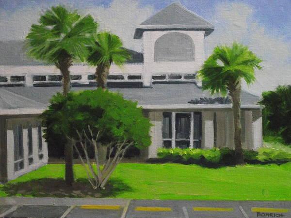 Wall Art - Painting - Palm Coast Yacht Club No. 3 by Robert Rohrich