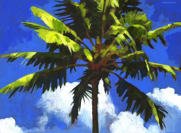 Coconut Painting - Palm Crown by Douglas Simonson