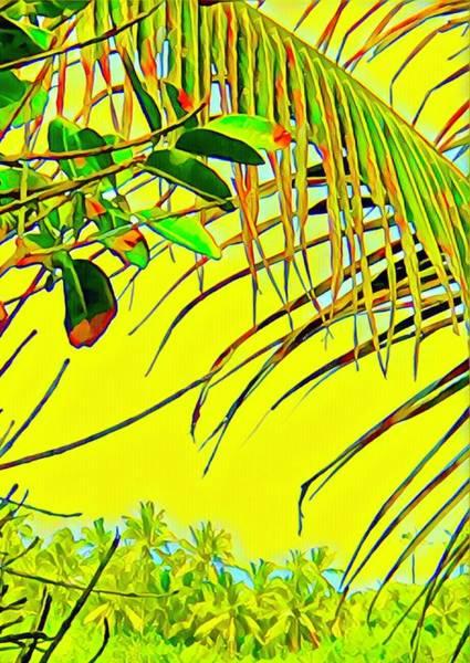 Palm Fragment In Yellow Art Print