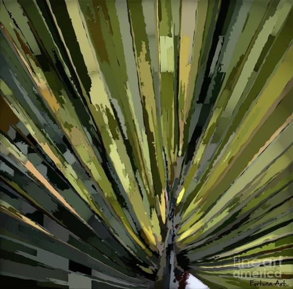 Wall Art - Digital Art - Palm Frods-detail by Dragica Micki Fortuna