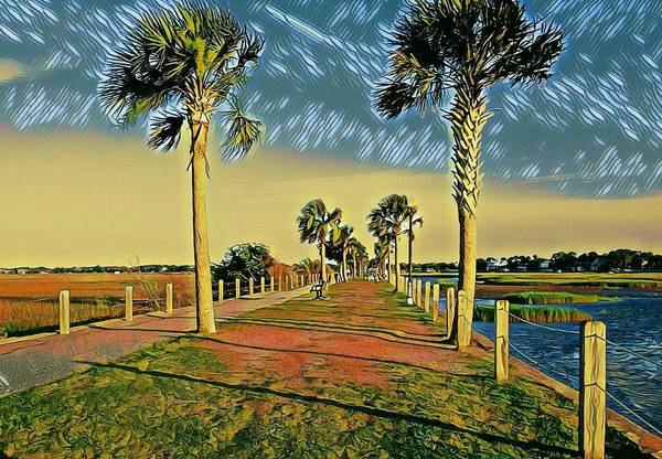 Photograph - Palm Parkway by Sherry Kuhlkin