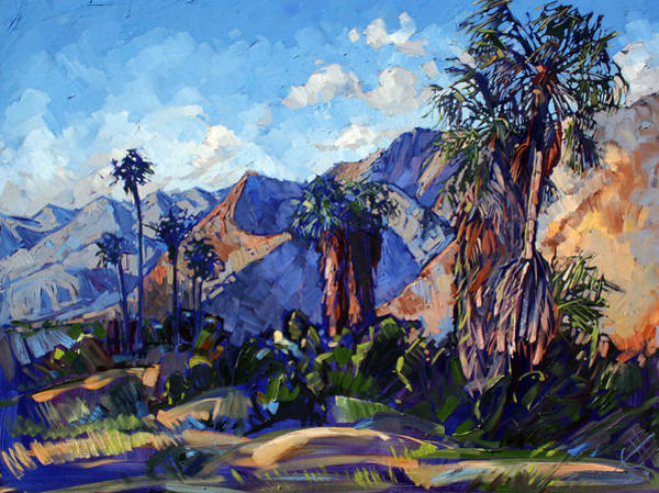 Joshua Tree National Park Wall Art - Painting - Palm Shadows by Erin Hanson