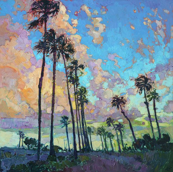 Wall Art - Painting - Palm Sky by Erin Hanson