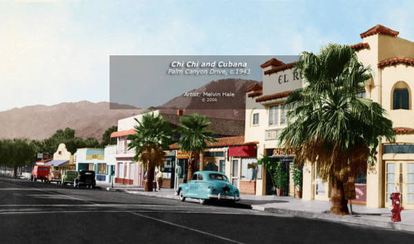 Wall Art - Painting - Palm Springs Art Entitled Chi Chi And Cubana Circa 1943 by Melvin Hale