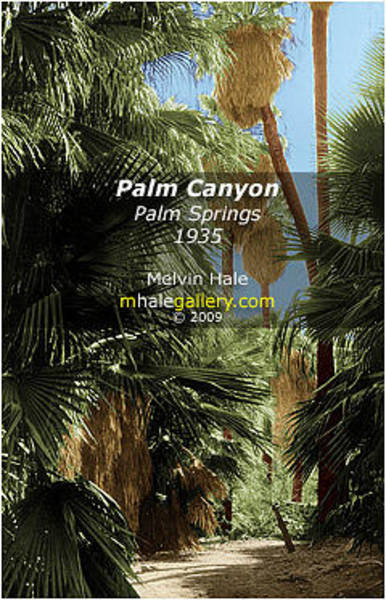 Wall Art - Painting - Palm Springs Art Entitled Palm Canyon Circa 1935 by Melvin Hale