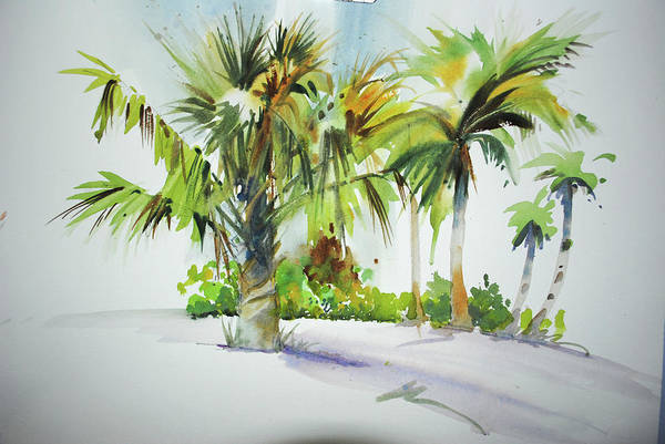 Canaries Painting - Palm Sunday by P Anthony Visco