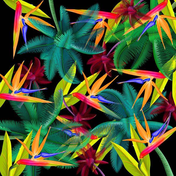 Triangles Painting - Palm Tree 4 by Mark Ashkenazi