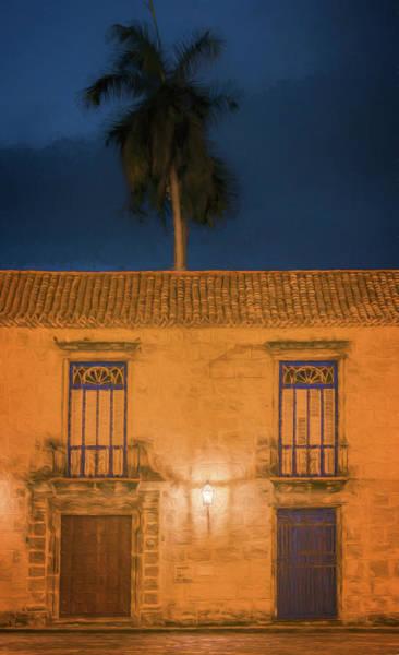 Photograph - Palm Tree Dawn Havana Cuba by Joan Carroll