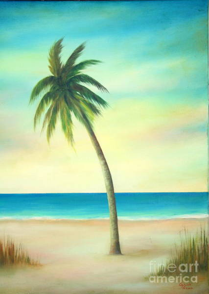 Wall Art - Painting - Palm Tree Of Florida by Gabriela Valencia
