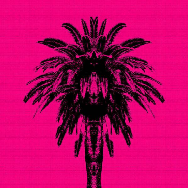 Palm Trees Digital Art - Palm Tree - Pink Sky by Edouard Coleman