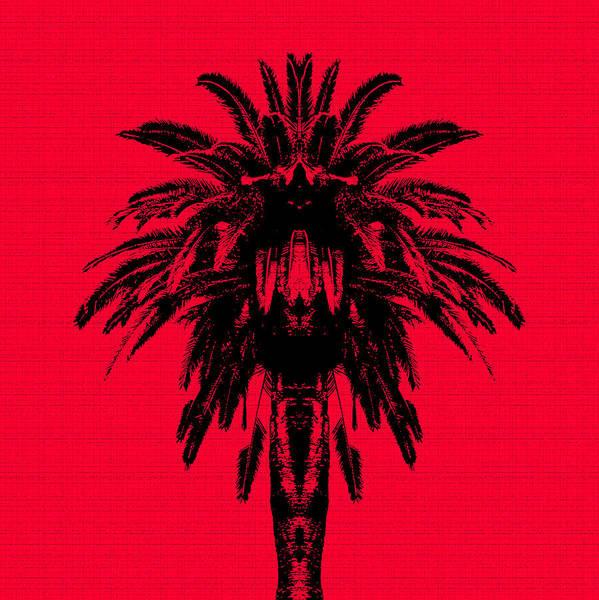Palm Trees Digital Art - Palm Tree - Red Sky by Edouard Coleman