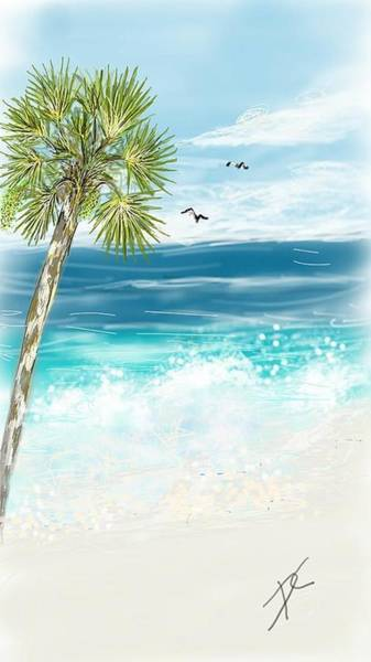 Digital Art - Palm Tree Study Four by Darren Cannell