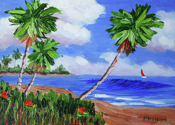 Laguna Beach Painting - Palm Trees by Bob Phillips