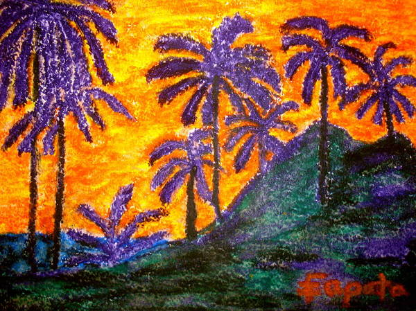 Pastel - Palm Trees In Paradise by Felix Zapata