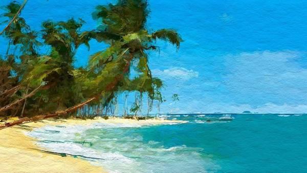 Wall Art - Digital Art - Palm Trees Sway by Anthony Fishburne