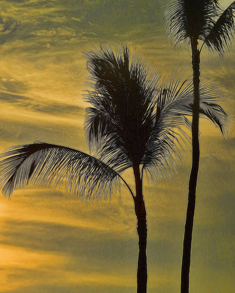 Photograph - Palm Trees Swaying by Pamela Walton