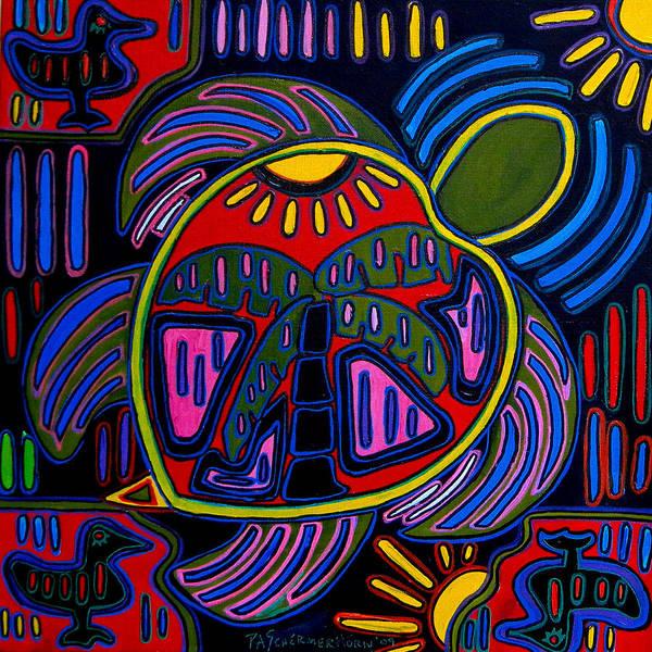 Painting - Palm Turtle Mola by Patti Schermerhorn