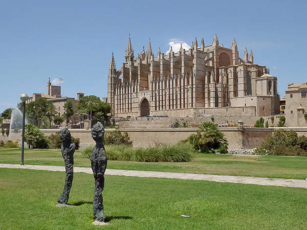 Photograph - Palma Cathedral 2 by Herb Paynter