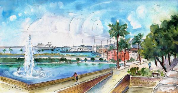 Painting - Palma De Mallorca Panoramic 01 by Miki De Goodaboom