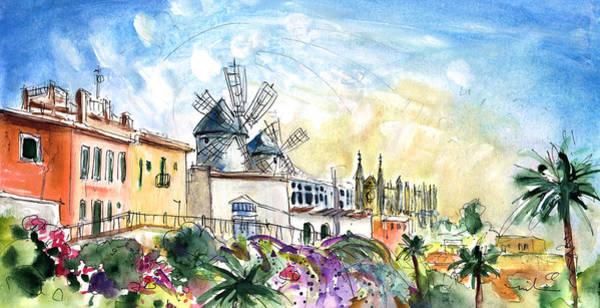 Painting - Palma De Mallorca Panoramic 03 by Miki De Goodaboom