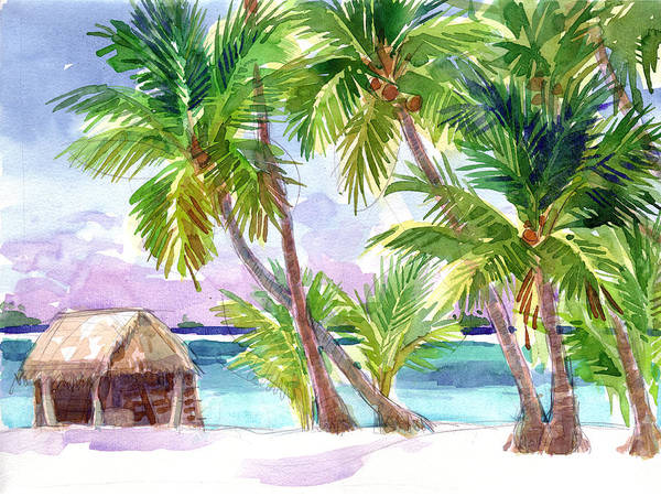Painting - Palmerston, Cook Islands by Judith Kunzle