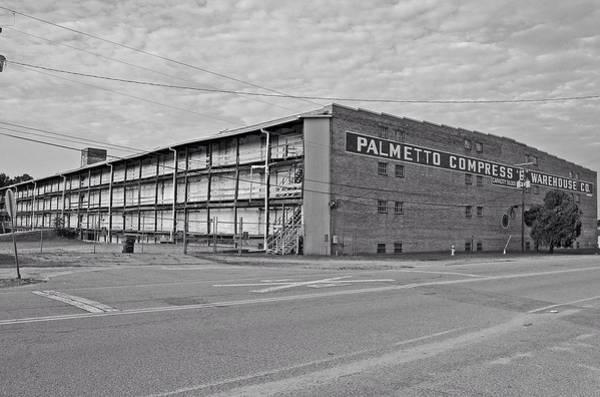 Wall Art - Photograph - Palmetto Compress Warehouse Bw by Joseph C Hinson