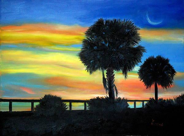 Painting - Palmetto Nights by Phil Burton