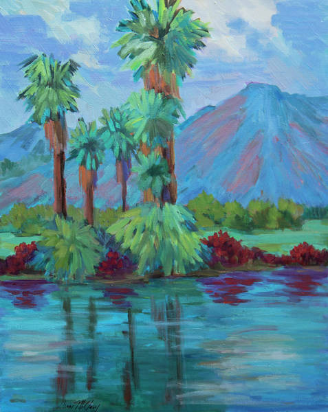 La Quinta Wall Art - Painting - Palms And Reflections by Diane McClary