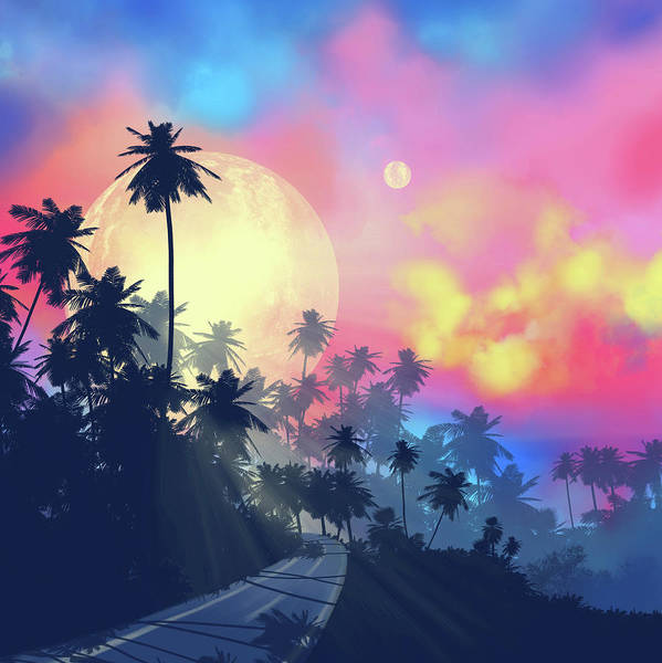Wall Art - Digital Art - Palms And Sky by Bekim M