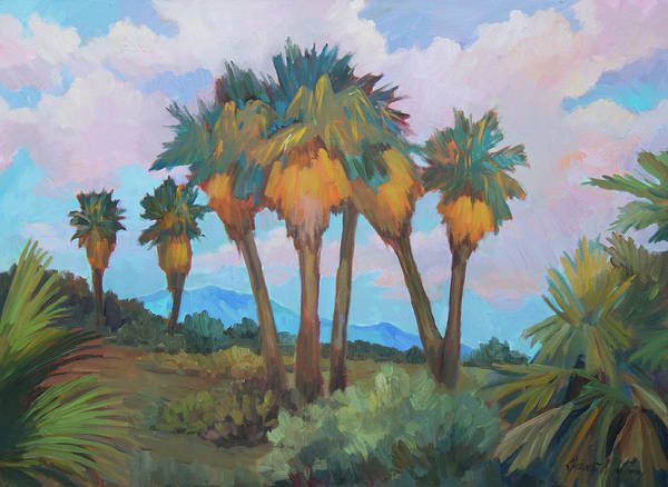 Wall Art - Painting - Palms At Anza Borrego State Park by Diane McClary