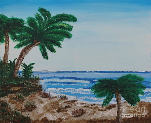 Painting - Palms At The Beach by Jimmy Clark