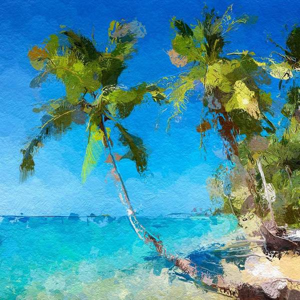 Wall Art - Drawing - Palms Beach Abstract  by Anthony Fishburne