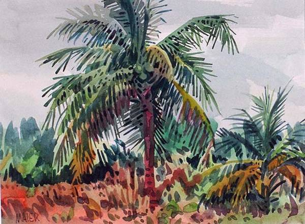 Coconut Painting - Palms On Big Pine Key by Donald Maier