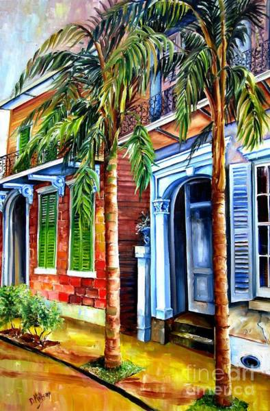 Wall Art - Painting - Palms On Esplanade Avenue by Diane Millsap