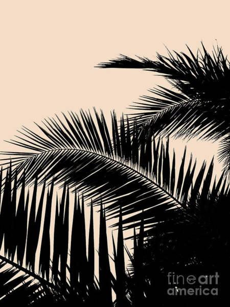 Palms On Pale Pink Art Print