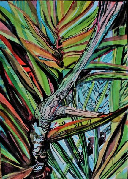 Wall Art - Painting - Palms Reaching Out by Mindy Newman