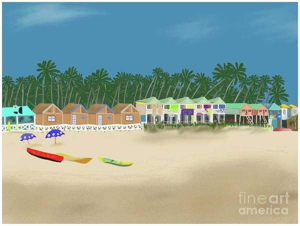 Painting - Palolem Beach Goa by Barefoot Bodeez Art