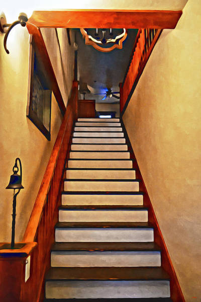 Photograph - Palomar Inn Hotel Stairwell - Temecula by Glenn McCarthy Art and Photography