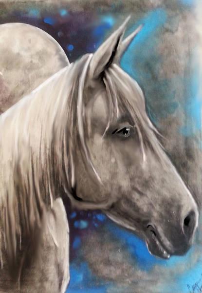 Palomino Horse Mixed Media - Palomino Dreamin by Cassie Chapin