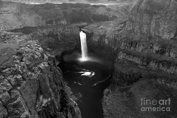 Photograph - Palouse Falls Black And White by Adam Jewell